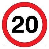 Viking signos pr545-s40-v'20mph o 20km/h velocidad de la carretera símbolo sign, vinilo, 400mm h x 400mm w