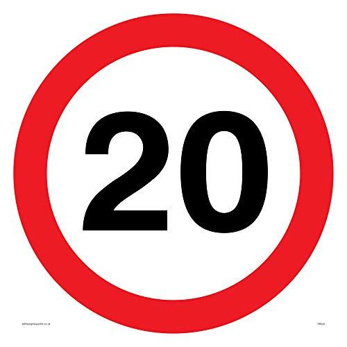 Viking signos pr545-s40-v20mph o 20km/h velocidad de la carretera símbolo Sign, vinilo, 400mm H x 400mm W