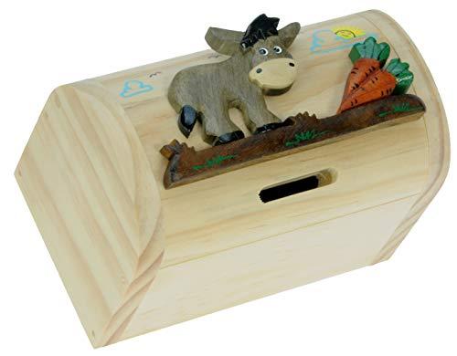 Esel : Spardose mit Geheim Lock: Handcrafted Holz: Top Weihnachten und Geburtstag Geschenk-Idee: Qualität traditionelle Weihnachtsgeschenk für Jungen, für Mädchen, für ihn, für sie, für Kinder & For Fun Liebend Erwachsene! (Größe 17x13x5cm)