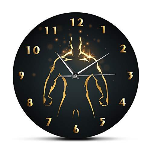 yage Reloj de Tiempo de Entrenamiento de Fuerza, Reloj Deportivo de Pared para Gimnasio, Fitness, Culturismo, Reloj de Pared de Barrido silencioso, decoración de Sala de Estar de Cueva para Hombre