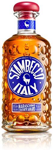 Stambecco Maraschino Cherry Amaro 35% Vol Alkohol I italienischer Amaro hergestellt aus Maraschino Kirschen und Zitronenschalen für den bitter-süssen Genuss nach dem Essen (1x 0,7l Flasche)
