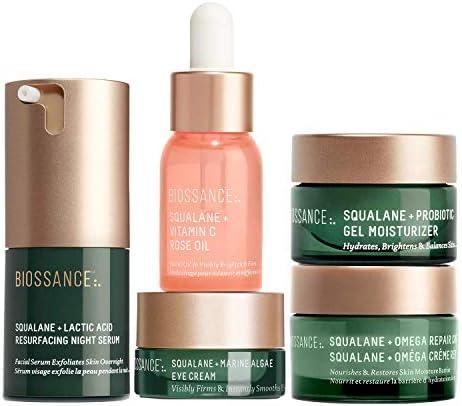 Biossance Overachievers Set 5 Piece Set Lactic Acid Night Serum Vitamin C Rose Oil Omega Repair product image