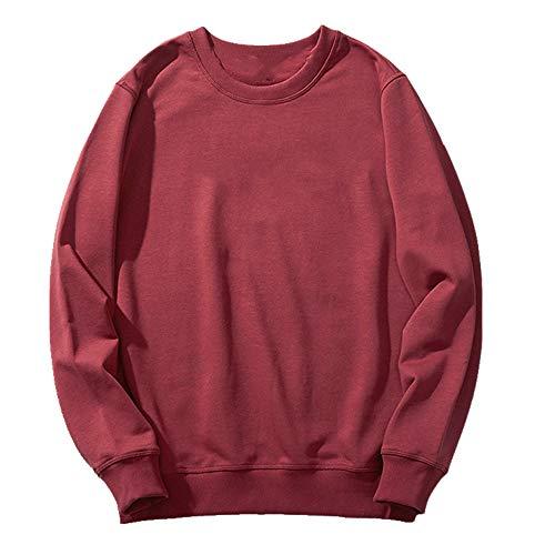 N\P Color sólido hombres cuello redondo suéter suéter hombres chaqueta deportiva otoño e invierno estudiante base
