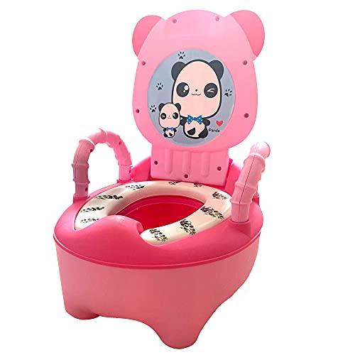 Vater para Niños y Niñas, Orinal Infantil o Inodoro para Entrenamiento de Pote bebe 18 meses, Bacinilla con Forma de Animal (Rosa)