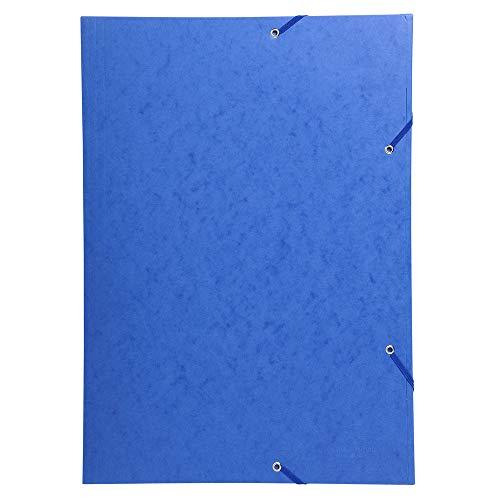 Exacompta 59507E Scotten Nature Future - Carpeta con 3 solapas y gomas de cartulina lustrada para A3, 216 g, azul, 32 x 44 cm