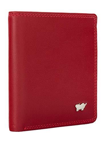BRAUN BÜFFEL Geldbörse Golf 2.0 - aus echtem Leder - 6 Fächer Carré Rot