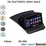 YLCCC Android 8.1 Radio De Coche para Ford Fiesta 2009-2012 Doble DIN 9'de Pantalla Táctil del Espejo Enlace GPS BT FM Am MP5 WiFi AUX SWC Dab