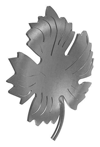 Fenau | ornamento de vino | conexión: Ø 3 mm | acero, crudo| adornos de hierro forjado para rejas de ventanas/elementos de vallas/vinos