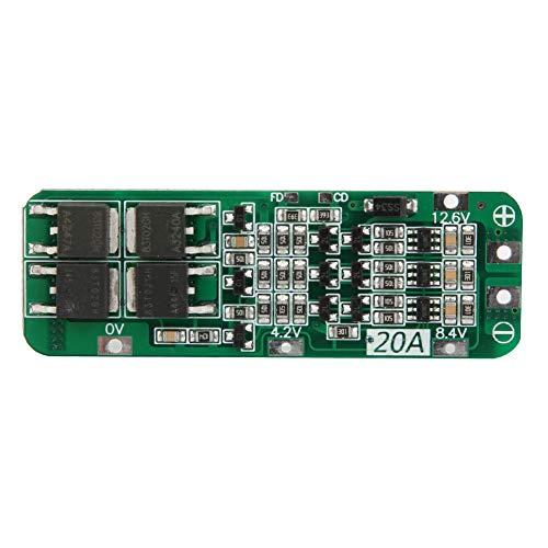 Cargador de batería de litio de celda 3S de 12,6V Placa de protección de PCB 18650 con función de recuperación automática para paquete de batería de litio de 12,6V