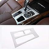 Cubierta decorativa para consola central de coche, color plateado mate, para X5, X6, E70, E71, 2010, 2011, 2012, 2013, accesorios