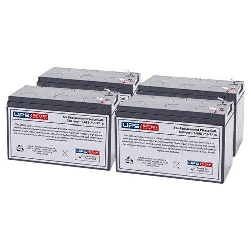 Compatible with (4) 12V 7.2Ah - Liebert GXT4-1500RT120 Replacement Battery Set by UPSBatteryCenter
