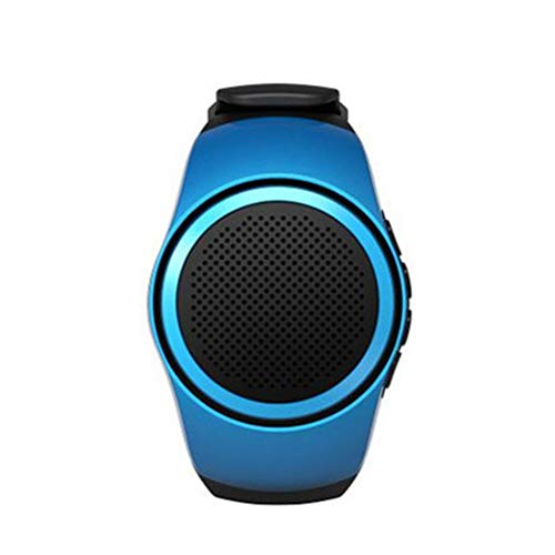 UKCOCO B20 Smart Watch Wireless da Polso Portatile da Indossare Sport con Allarme Musica Sport Sottile e Leggero Supporto da Bluetooth Speaker TF Card Radio FM Autoscatto (Blu)