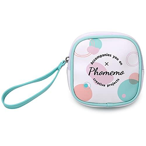 Phomemo Bolsa Protectora para Impresora, para Phomemo M02 / M02S / M02 Pro / M110, Bolsa con Cremallera Reutilizable, Cuero PU, Impermeable y Resistente al Aceite, como Regalo para Amigos y Niños