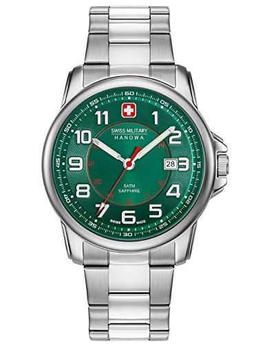 Swiss Military Hanowa Reloj Analógico para Unisex Adultos de Cuarzo con Correa en Acero Inoxidable 06-5330.04.006