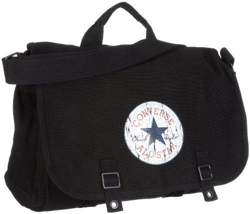Converse Shoulder Bag Vintage Patch Canvas, black, 38 x 13,5 x 27 cm, 98306A-30