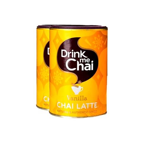 Drink me Chai | Te Chai Latte Vainilla | Te pakistani instantáneo | Pack de 2 x 250 g | Total 500 g
