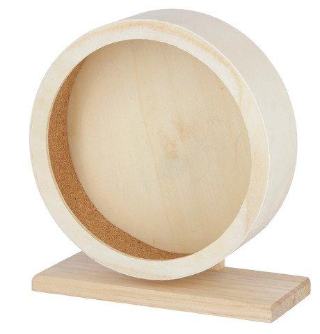 Kerbl Hamsterlaufrad aus Holz mit geschlossener Lauffläche aus Kork für sicheren Halt, Durchmesser 22 cm oder 29 cm (22 cm)