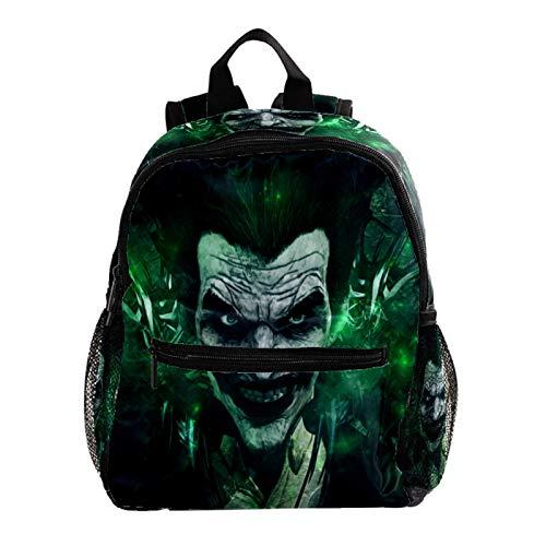 Cool Backpack Kids Sturdy Schoolbags Back to School Backpack for Boys Girls,Joker Smile