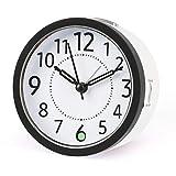 DTKID Relojes de Alarma silenciosos Mesita de Noche Sin tictac Relojes de Mesa con Pilas Pantalla Grande Luminosa Función de luz de repetición para Dormitorio Oficina [Clase energética A +++]