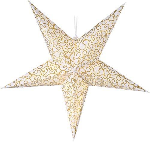 Papierstern gold 75 cm - 15 LED/Timer - Weihnachtsstern zum hängen Leuchtstern