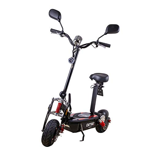 DeTec. Discovery E-Scooter 1000 Watt 36V max. 20 km/h mit Straßenzulassung (schwarz)