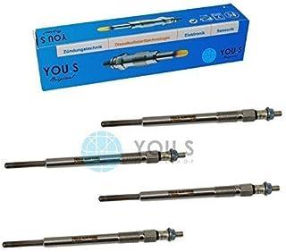 4 Stück YOU.S Original Glühkerzen Länge: 121,5 mm Spannung: 11,0 V   1525910