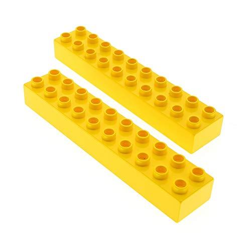 2 x Lego Duplo Basic Bau Stein gelb 2x10 für Set 9149 6171 3771 4987 2291