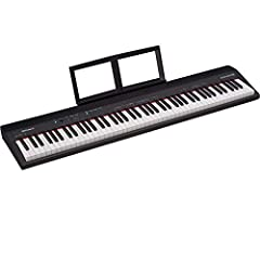 Premium piano performance in a compact, portable and affordable instrument 88-note keyboard with full-size keys and standard spacing includes piano tone with 128-voice polyphony Roland has partnered with Skoove to offer customers three months of free...