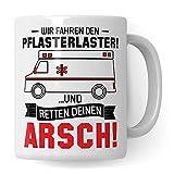 Taza de café paramédica de emergencia paramédica de emergencia para camión de yeso
