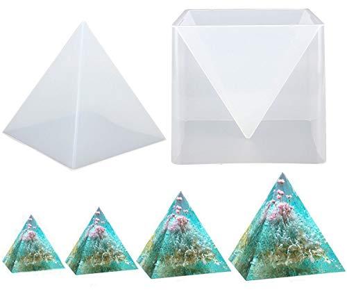 Chougui Große Pyramidenform, 15 cm, Silikon-Harz-Gießform, transparente Epoxidharz-Formen zum Basteln von Orgonit-Pyramiden, für Schmuckherstellung, Basteln, Heimdekoration oder als Geschenk