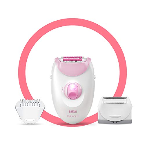 Braun Silk Epil 3 Epilator - Dual Voltage 110-220 Volts - Legs & Body (3270) (Free LiteFuze 110 Volt Plug)