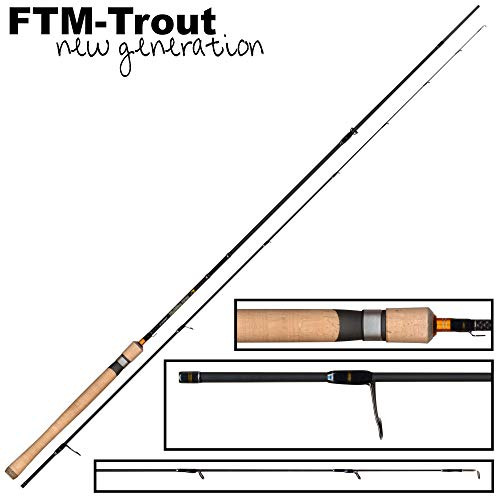 FTM Highline Area 1,98m 0-4,5g - Ultra Light Rute zum Spinnfischen auf Forellen, Forellenrute für Spoons, Spinnrute, Angelrute