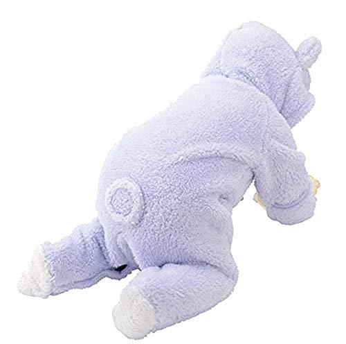 Bunny pyjama - pyjama - onesie - baby - carnaval - fleece - kostuum - warme onesie - lucht - met voeten - maat 90 cm - origineel idee voor een verjaardagscadeau voor kerstmis