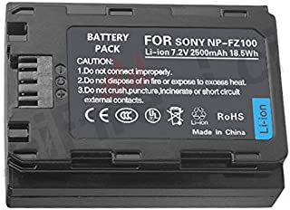 1 pcs NP-FZ100 2500mAh 7.2V Z Series Rechargeable Battery Pack for Sony NPFZ100 BC-QZ1 A7RM3 A7R III ILCE-A9 ILCE-9 ILCE9 Alpha A9 Digital Camera