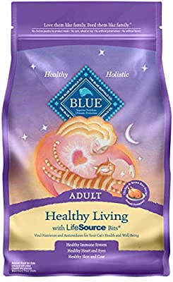 Blue Buffalo Healthy Living Natural Adult Dry Cat Food, Chicken & Brown Rice 7-lb