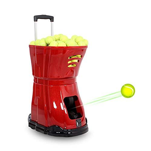 YLOVOW Profesional Máquina De Lanzamiento De Pelotas para Tenis, Máquina De Lanzamiento Automática para Servir con Control Remoto