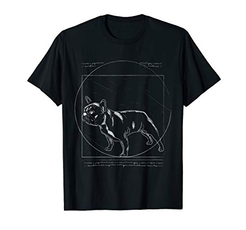 Vitruvian French Bulldog Clothes Frenchie Outfit Stuff Gift T-Shirt