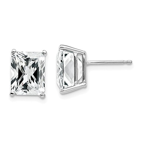 14k White Gold 5.2ct. 9x7mm Green Emerald Colorless Moissanite Earrings Ball Button Stud Fine Jewellery For Women Gifts For Her