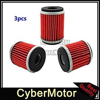 Sellify Accesorios y piezas 3X del filtro de aceite para Yamaha Yz Xt Yfz YBR 250 450 Te Sm Ec 125 Yz Xt Yfz Caballero