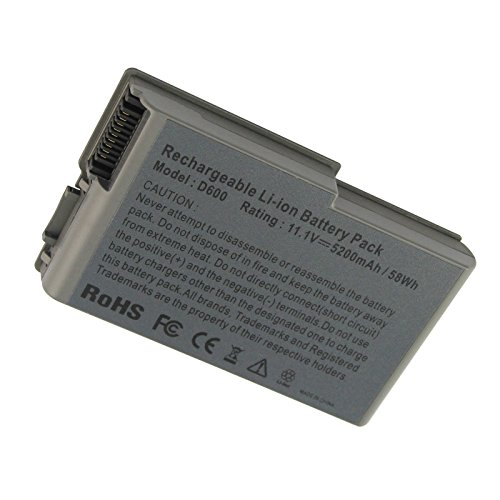 Fancy Buying Latitude D600 New Laptop Battery for Dell Latitude D505 D610 D520 D500 D510 D530 / Inspiron 600M, fits P/N C1295 6Y270 3R305-12 Months Warranty (6 Cells 11.1V 5200mAh)