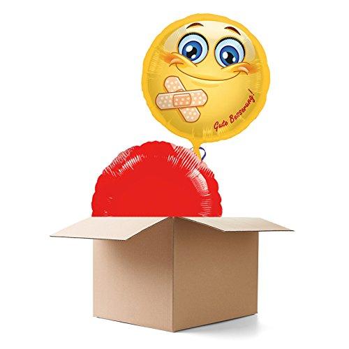 PARTY DISCOUNT ® Ballongruß - Ballongrüße Gute Besserung, 2 Ballons