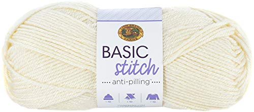 LION BRAND YARN COMPANY YARN BASIC STITCH AN ECRU