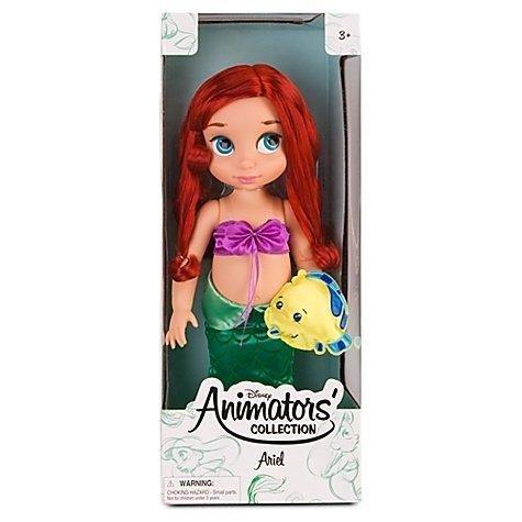 Disney officiel La Petite Sirène Ariel 38cm Animator Toddler Doll Avec des accessoires Flet