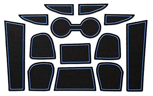 Coche Anti-polvo Slot Ranura Puerta Slot Slot Mat Automobile Center Console Liner Parts Coche Estilismo Accesorios para Mazda CX-3 CX3 2017-2019 3D Coche de goma Anti resbalón Almohadilla de puerta in