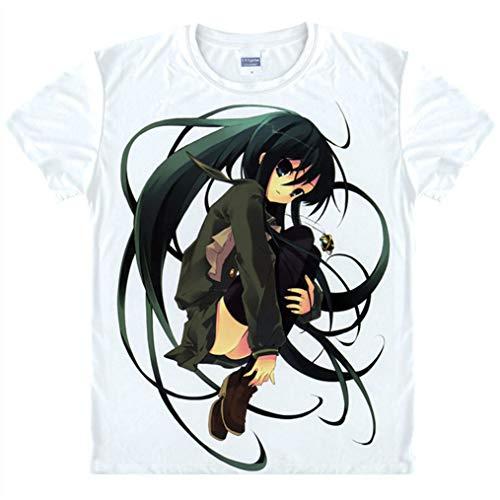 Cosstars Shakugan no Shana Anime T-Shirt Camiseta Manga Corta Cosplay Verano Cuello Redondo tee Top Shirts
