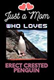 Just A Mom Who Loves Erect Crested Penguin: Erect Crested Penguin Lover Blank Lined Notebook Funny Gifts Of Christmas Thanksgiving For Cute Erect Crested Penguin Lover Women Boys And Kids.