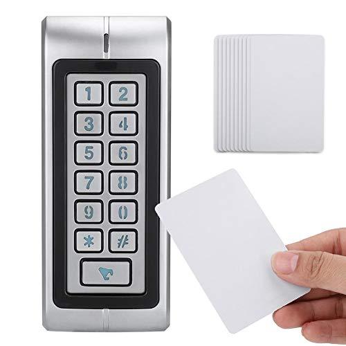 toegangscontrole deur door IC-kaart en wachtwoord, IP68 waterdicht, perfect voor thuis/kantoor/hotel, voor binnen en buiten, voor 5000 gebruikers, verlicht toetsenbord, wachtwoordbeveiliging, 3 tot