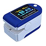 LASHA Fingertip Pulse Oximeter Blood Oxygen Saturation Monitor with Batteries and Lanyard