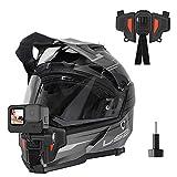TELESIN Soporte actualizado para casco de motocicleta para GoPro Hero/Insta 360/Osmo Action Pocket teléfono celular y más cámara de acción, con adaptador Go Pro Mount accesorios de tornillo en kit