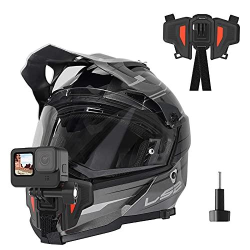 TELESIN Soporte actualizado para casco de motocicleta para GoPro Hero/Insta 360/Osmo Action...